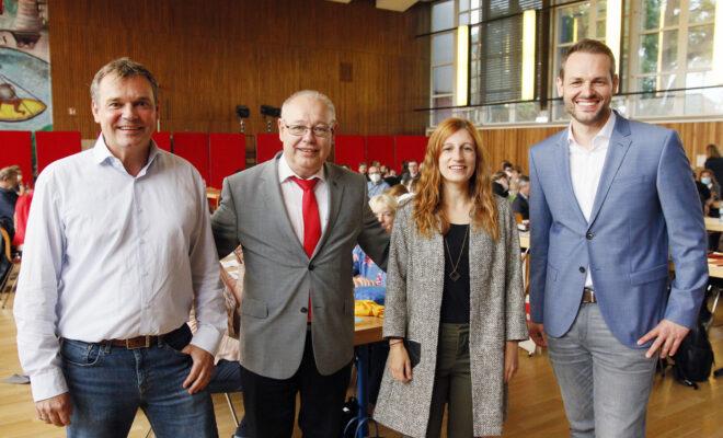 Die vier Landtagskandidaten der SPD Düsseldorf für die Wahl im Mai 2022