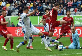 Fortuna Düsseldorf gewinnt gegen den Karlsruher SC