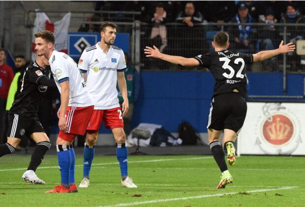 Fortuna Düsseldorf erzielt den Ausgleich beim Hamburger SV