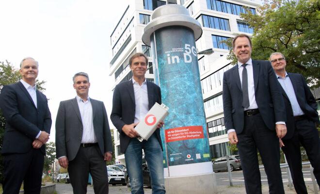 Litfaßsäule 5G in Düsseldorf